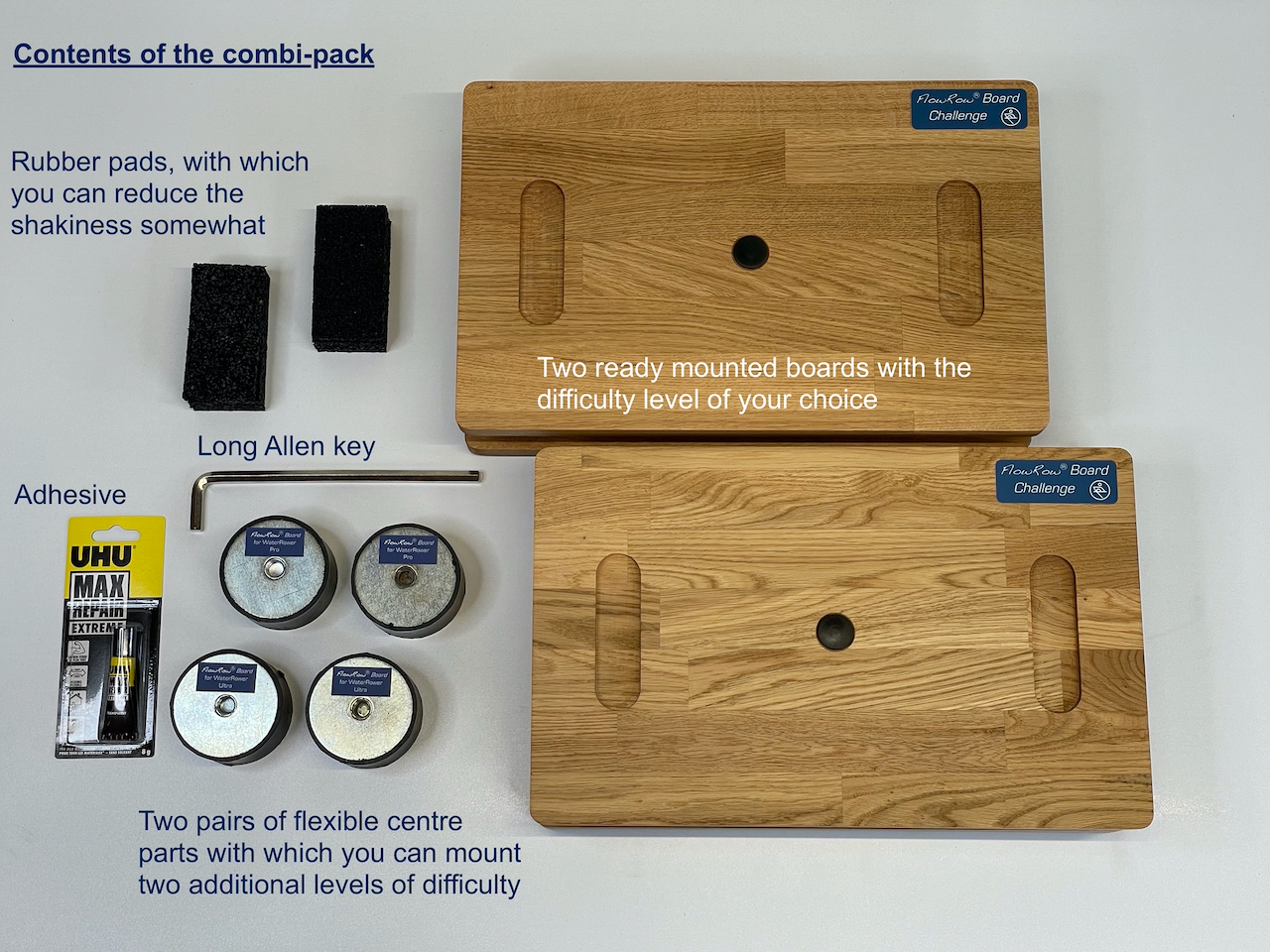 FlowRow Board for WaterRower with Double Replacement Kit